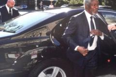 Personenschutz für Kofi Annan